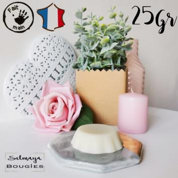 Musc blanc 25gr - Tartelette parfumée naturelle et artisanale made in France