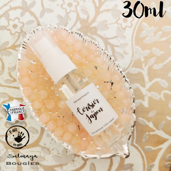 Cerisier du Japon 30ml / Spray parfumé naturel pour linge de maison