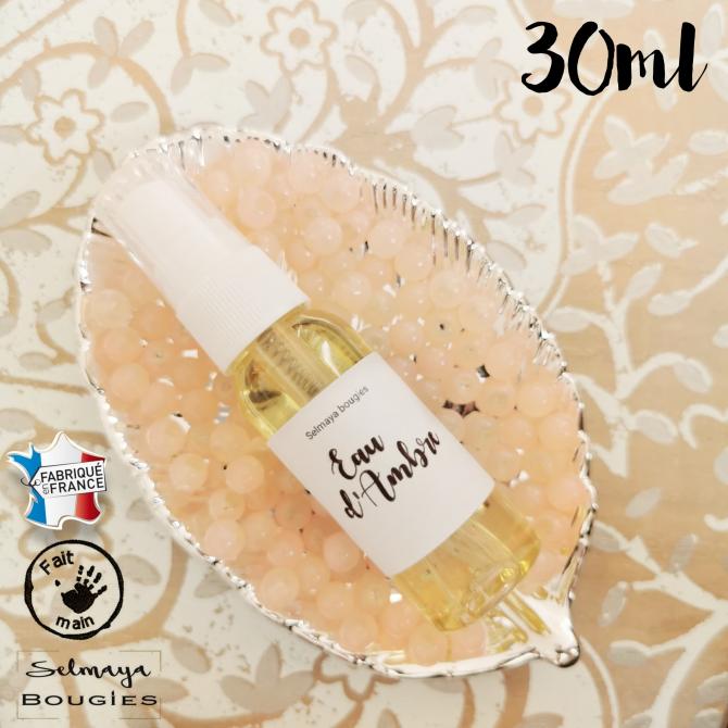 Eau d'Ambre 30ml - Spray parfumé pour linge de maison