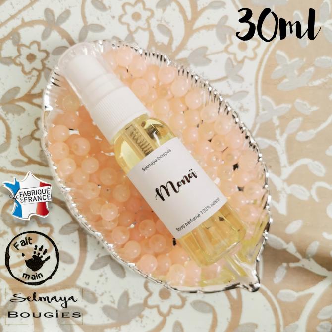 Spray Parfume Naturel Pour Linge De Maison Monoi