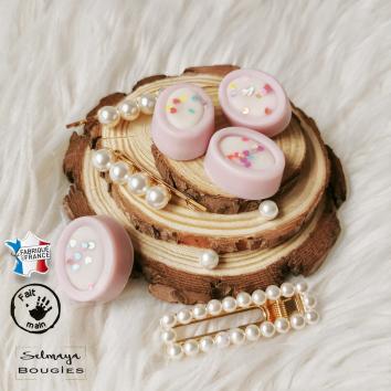 La parisienne - Fondants parfumés ovales joliment décoré - lot de 4