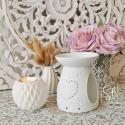 Love Me - Jolie bruleur pour fondant parfumé en porcelaine blanc