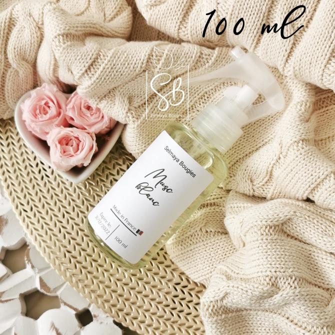 Musc blanc - Spray parfumé naturel pour textile