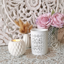 Marjane - Bruleur pour fondant parfumé blanc