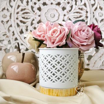 Sultan - Bruleur en porcelaine blanc pour fondant parfumé