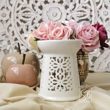 Kasba - Bruleur Blanc cassé de style orientale en céramique