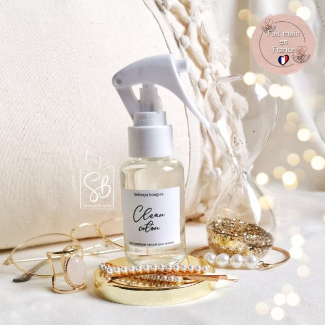 Clean coton - Spray parfumé pour linge de maison