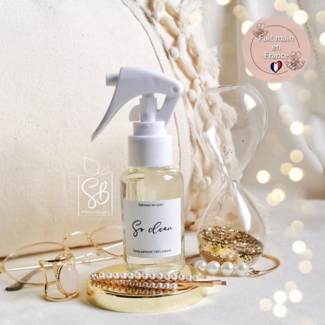 So clean - Spray parfumé pour textiles - fait main et naturel